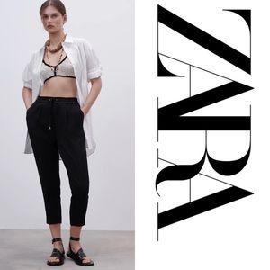 Zara High Wasted Black Pants